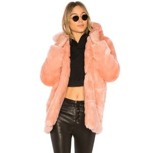 Faux Fur Jacket 84 in Rosette